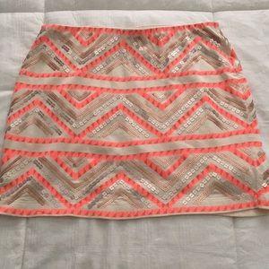 Express sequin bodycon skirt